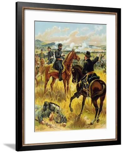Major General George Meade at the Battle of Gettysburg on July 2nd 1863, 1900-Henry Alexander Ogden-Framed Art Print