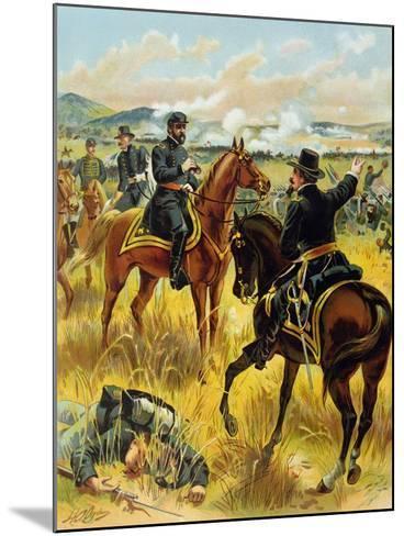 Major General George Meade at the Battle of Gettysburg on July 2nd 1863, 1900-Henry Alexander Ogden-Mounted Giclee Print
