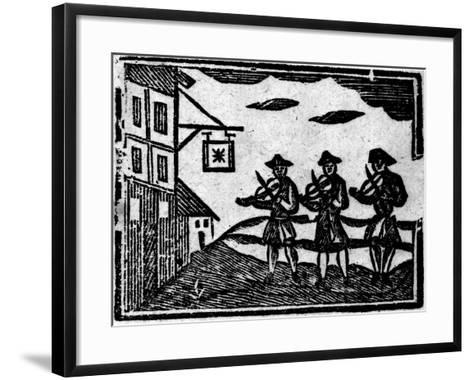 Three Fiddlers, from A Book of Roxburghe Ballads--Framed Art Print