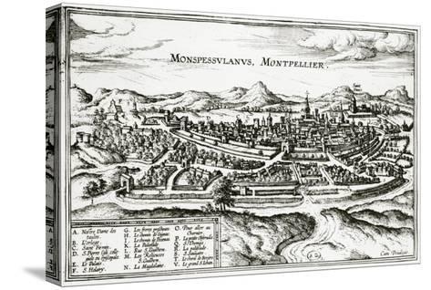 Map of Montpellier, from Civitates Orbis Terrarum by Georg Braun-Joris Hoefnagel-Stretched Canvas Print