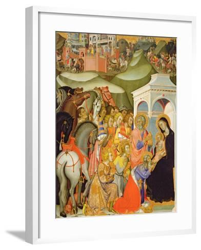 The Adoration of the Magi, c.1380-Also Manfredi De Battilori Bartolo Di Fredi-Framed Art Print