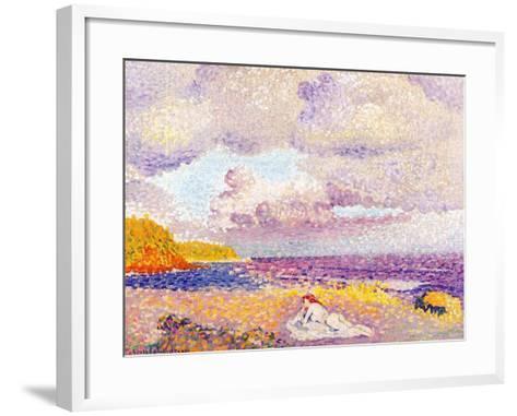 Incoming Storm, 1907-08-Henri Edmond Cross-Framed Art Print