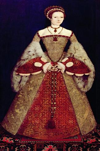 Portrait of Catherine Parr, 1545-Master John Of Samakov-Stretched Canvas Print