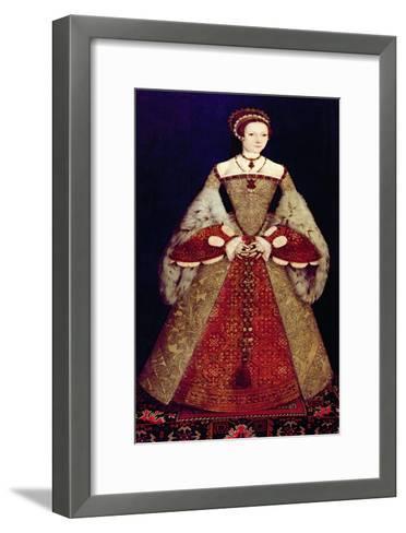 Portrait of Catherine Parr, 1545-Master John Of Samakov-Framed Art Print