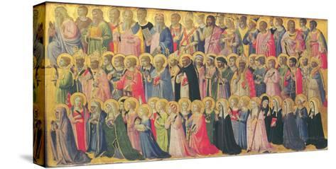 The Forerunners of Christ with Saints and Martyrs, 1423-24-Fra Angelico-Stretched Canvas Print