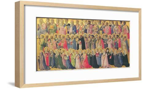 The Forerunners of Christ with Saints and Martyrs, 1423-24-Fra Angelico-Framed Art Print