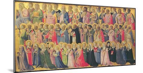 The Forerunners of Christ with Saints and Martyrs, 1423-24-Fra Angelico-Mounted Giclee Print
