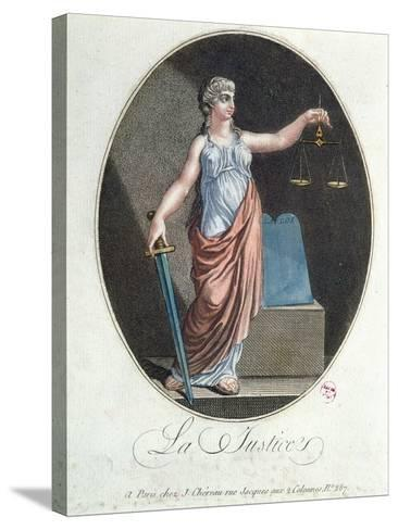 Allegory of Justice, Published by J. Chereau, Paris, 1792--Stretched Canvas Print