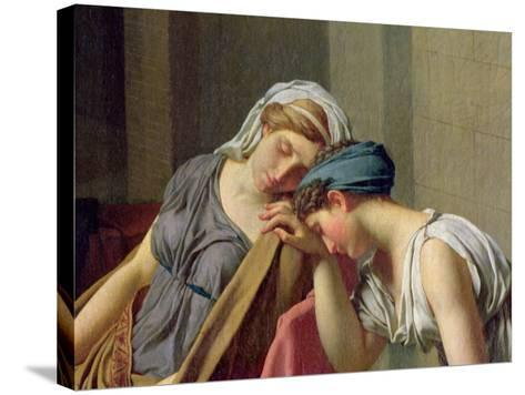 The Oath of Horatii, 1784-Jacques-Louis David-Stretched Canvas Print