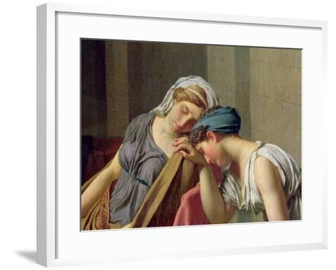 The Oath of Horatii, 1784-Jacques-Louis David-Framed Art Print