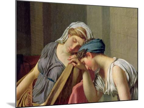 The Oath of Horatii, 1784-Jacques-Louis David-Mounted Giclee Print