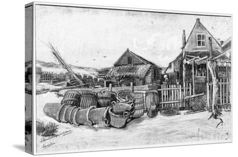 The Fish Drying Barn at Scheveningen, c.1882-Vincent van Gogh-Stretched Canvas Print