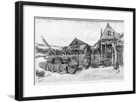 The Fish Drying Barn at Scheveningen, c.1882-Vincent van Gogh-Framed Art Print