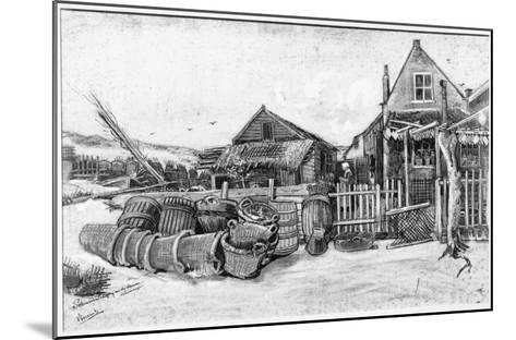 The Fish Drying Barn at Scheveningen, c.1882-Vincent van Gogh-Mounted Giclee Print