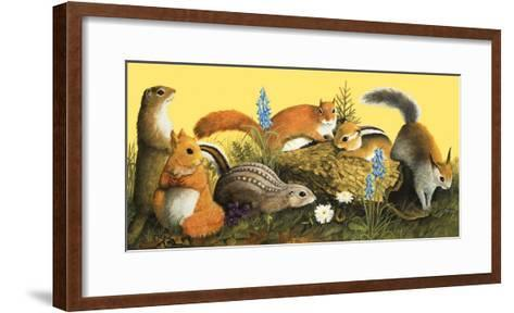 The Squirrel Family, Illustration from Once Upon a Time--Framed Art Print