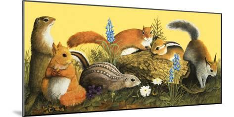 The Squirrel Family, Illustration from Once Upon a Time--Mounted Giclee Print