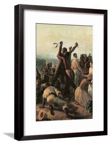 Proclamation of the Abolition of Slavery in the French Colonies, 23rd April 1848, 1849-Francois Auguste Biard-Framed Art Print