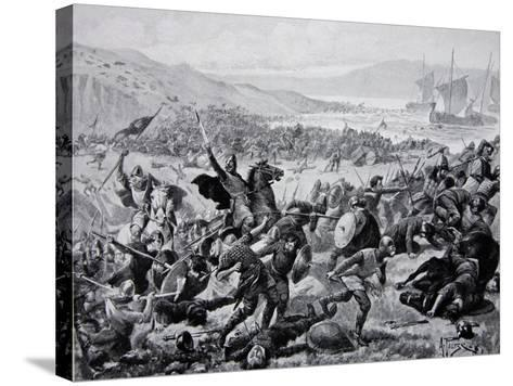 The Great Battle of Brunanburgh, 937, Illustration from the Book The History of the Nation-Alfred Pearse-Stretched Canvas Print