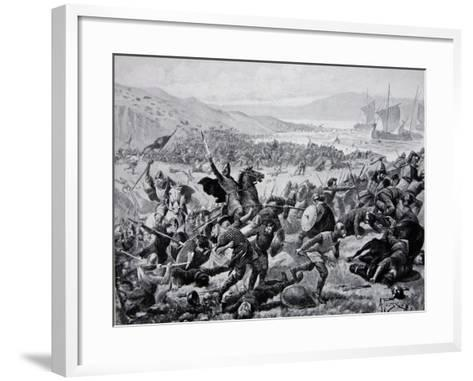 The Great Battle of Brunanburgh, 937, Illustration from the Book The History of the Nation-Alfred Pearse-Framed Art Print