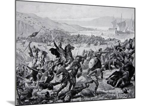 The Great Battle of Brunanburgh, 937, Illustration from the Book The History of the Nation-Alfred Pearse-Mounted Giclee Print