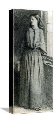 Elizabeth Siddal, May 1854-Dante Gabriel Rossetti-Stretched Canvas Print