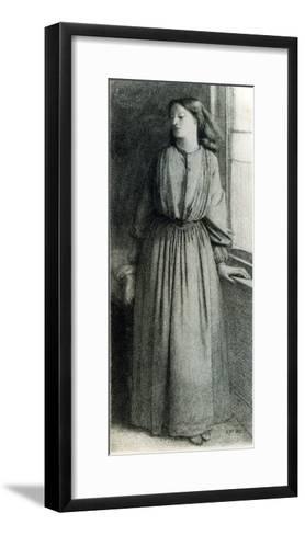 Elizabeth Siddal, May 1854-Dante Gabriel Rossetti-Framed Art Print