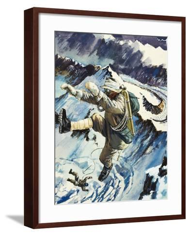 Mountaineers Falling to Their Death--Framed Art Print