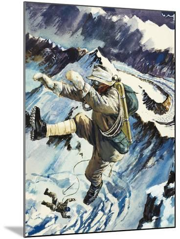 Mountaineers Falling to Their Death--Mounted Giclee Print