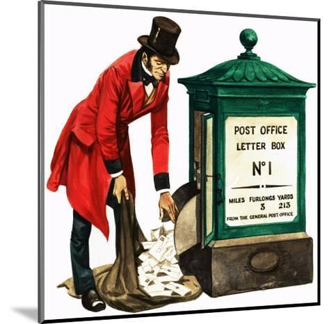 Communication One Hundred Years Ago. a Victorian Postman and Post Box-Peter Jackson-Mounted Giclee Print