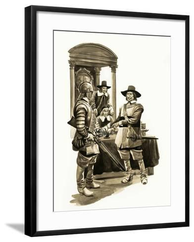 The Wonderful Story of Britain: Oliver Cromwell-Peter Jackson-Framed Art Print