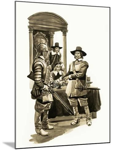The Wonderful Story of Britain: Oliver Cromwell-Peter Jackson-Mounted Giclee Print