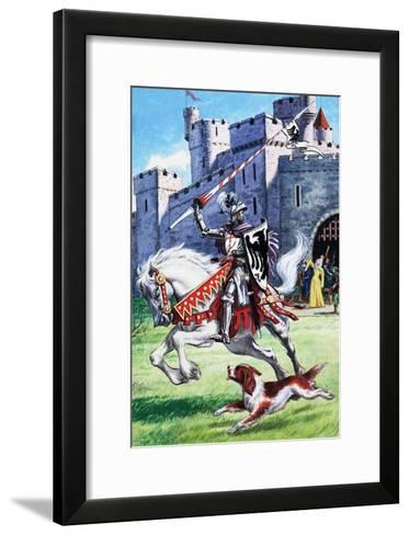 Jack and Jill and the Old Castle--Framed Art Print