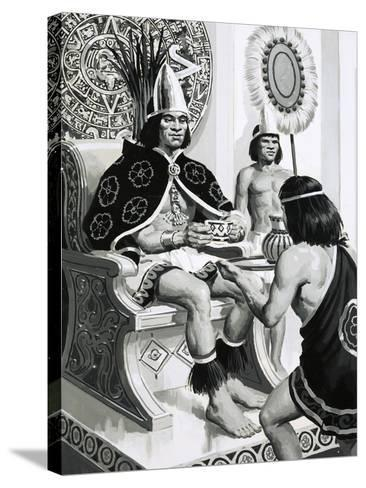 Emperor Montezuma of the Aztecs Liked Drinking Cocoa--Stretched Canvas Print