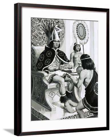 Emperor Montezuma of the Aztecs Liked Drinking Cocoa--Framed Art Print
