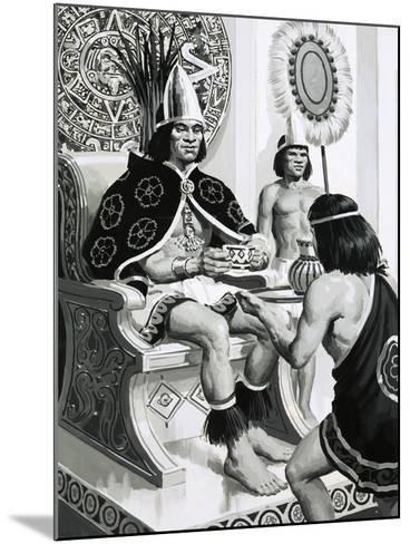 Emperor Montezuma of the Aztecs Liked Drinking Cocoa--Mounted Giclee Print