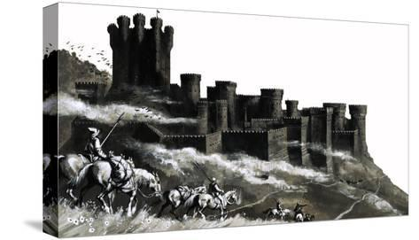 Pontefract Castle in the West Ridings, Yorkshire--Stretched Canvas Print