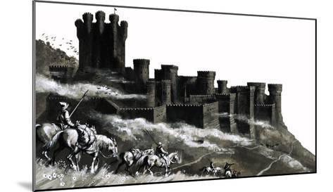 Pontefract Castle in the West Ridings, Yorkshire--Mounted Giclee Print