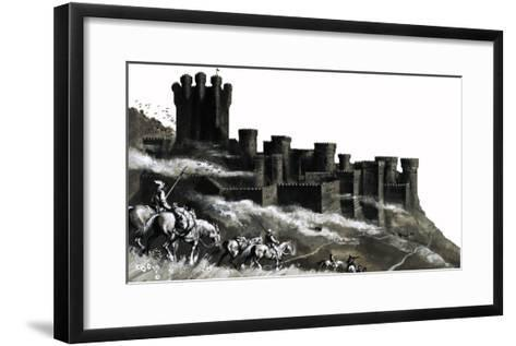 Pontefract Castle in the West Ridings, Yorkshire--Framed Art Print