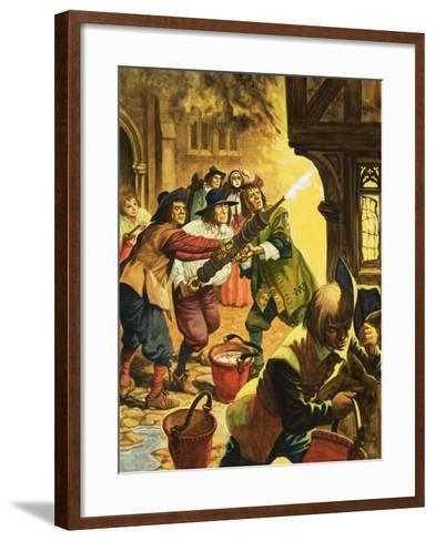 The Great Fire of London of 1666-Peter Jackson-Framed Art Print