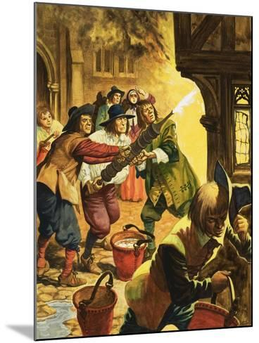 The Great Fire of London of 1666-Peter Jackson-Mounted Giclee Print