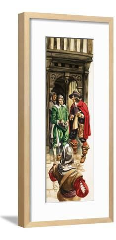 The Wonderful Story of Britain: King Charles the First. Tax Collectors-Peter Jackson-Framed Art Print