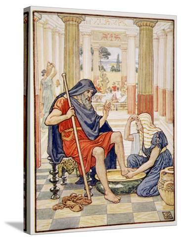 Yea, Verily, Thou Art Odysseus', Illustration from the Story of Greece by Mary Macgregor-Walter Crane-Stretched Canvas Print