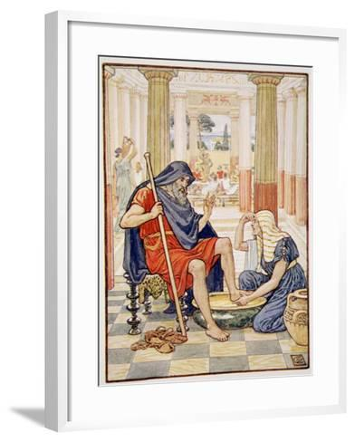 Yea, Verily, Thou Art Odysseus', Illustration from the Story of Greece by Mary Macgregor-Walter Crane-Framed Art Print