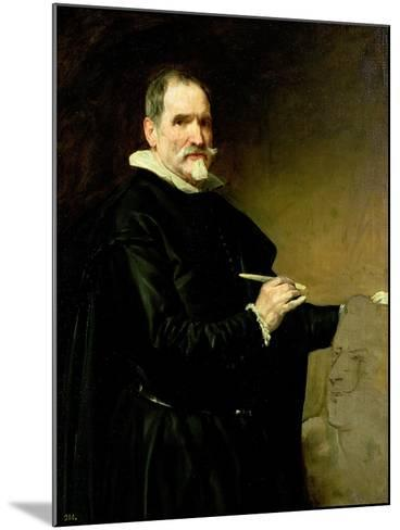 Portrait of the Sculptor, Juan Martinez Montanes-Diego Velazquez-Mounted Giclee Print