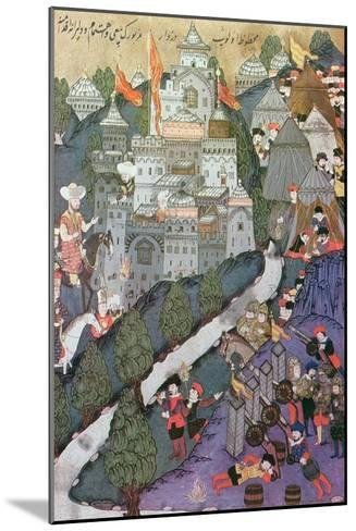 Battle of Nicopolis, 1396, Facsimile of a Miniature Conserved in the Topkapi Museum in Istanbul--Mounted Giclee Print