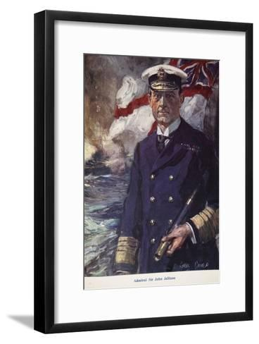 Admiral Sir John Jellicoe, Illustration from Told in the Huts: The YMCA Gift Book, Published 1916-Cyrus Cuneo-Framed Art Print