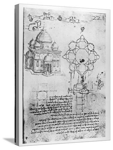 Design For a Church-Leonardo da Vinci-Stretched Canvas Print