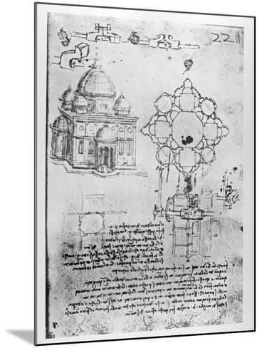 Design For a Church-Leonardo da Vinci-Mounted Giclee Print