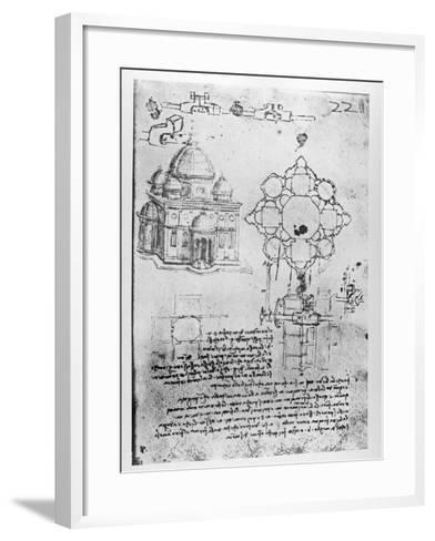 Design For a Church-Leonardo da Vinci-Framed Art Print