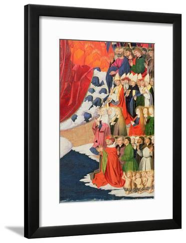The Coronation of the Virgin, Completed 1453-Enguerrand Quarton-Framed Art Print